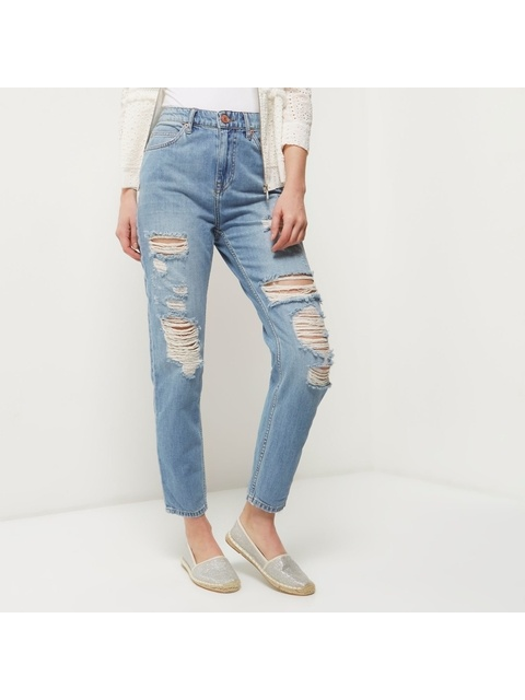 fb72e981cc Ripped Mom Jeans