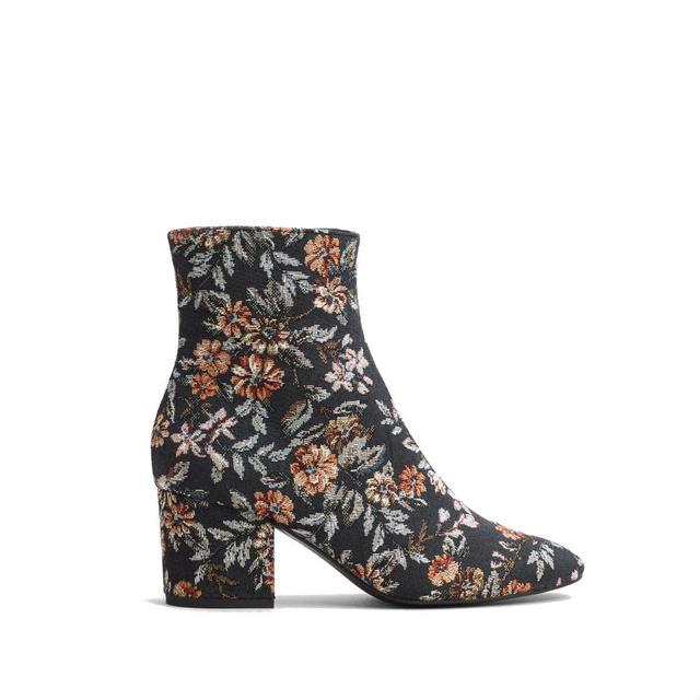4a12c13f1e3 Heel Jacquard Ankle Boots