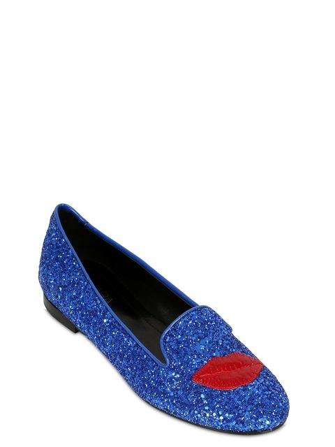 14b354778df Lipstick Glitter Loafers