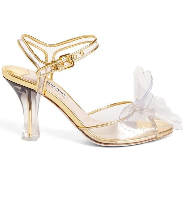 Miu Miu Floral-Embellished Sandals clearance with credit card collections WCL4M5