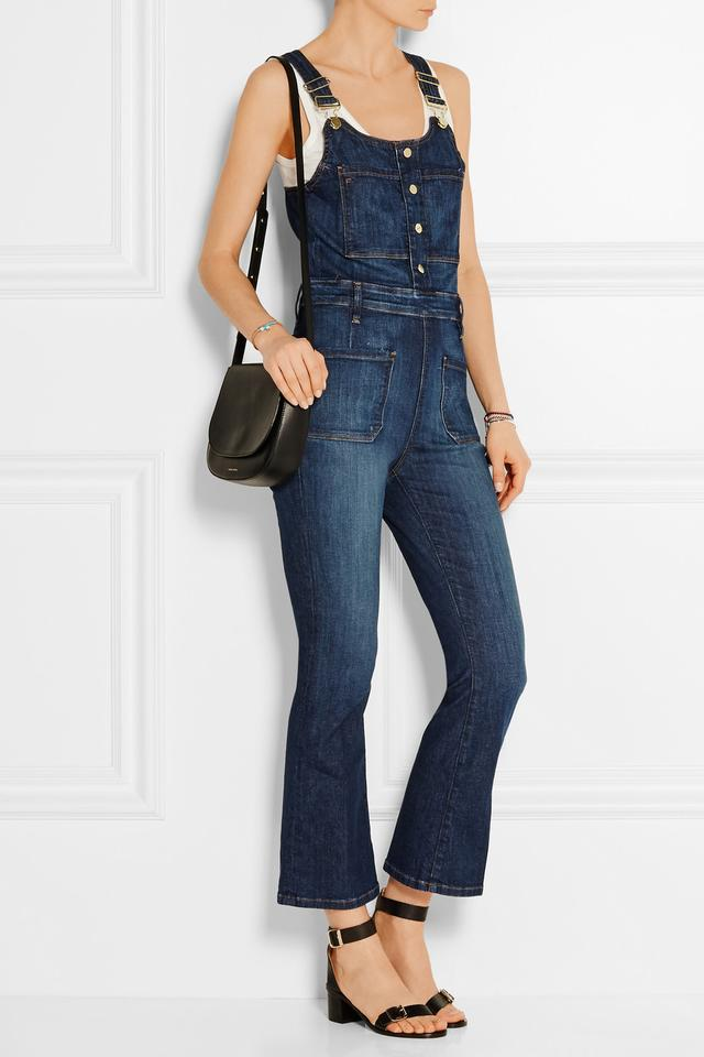 Le High Cropped Denim Overalls | Endource