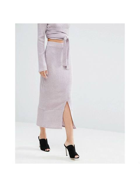 6cb7d118b Flounce Hem Midi Skirt | Endource