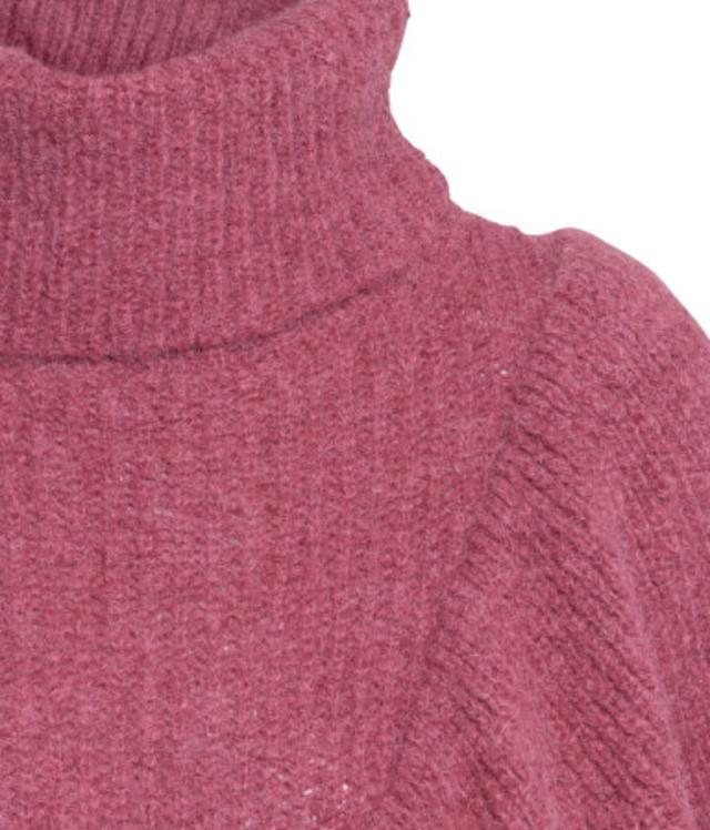 Polo-neck Flounced Jumper by