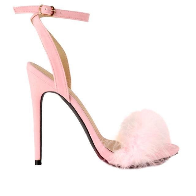 Gina Fur High Heel Sandals | Endource