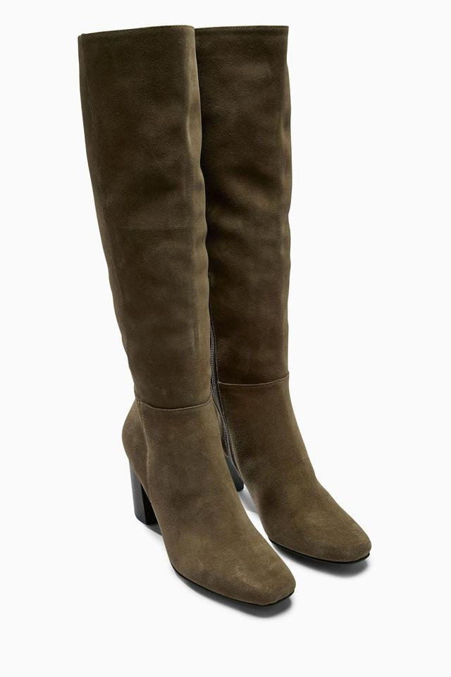 suede square toe to the knee boots endource