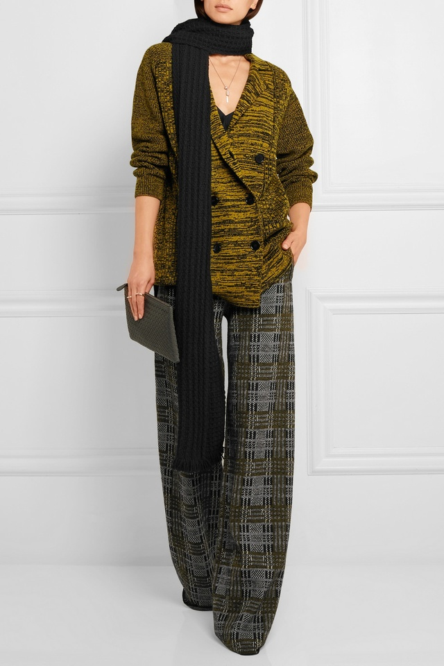 Plaid Wide-Leg Pants | Endource