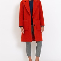 Boiled Wool Patch Pocket Coat | Endource