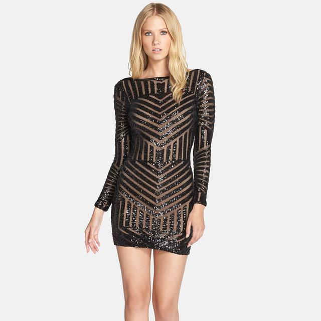 37c75ef0 Lola Sequin Body-Con Dress | Endource