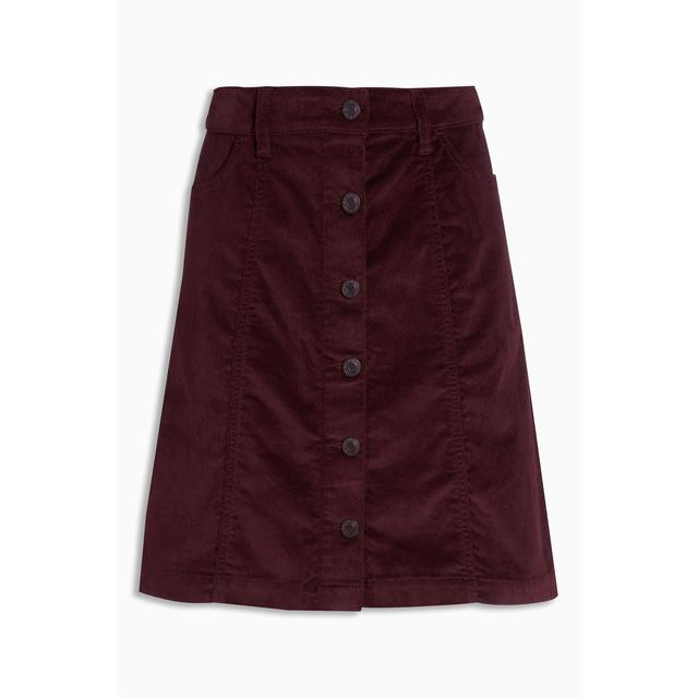Cord Button A-Line Skirt | Endource