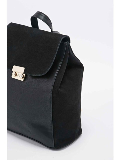 b7a98d8fdb Suede Panel Backpack | Endource