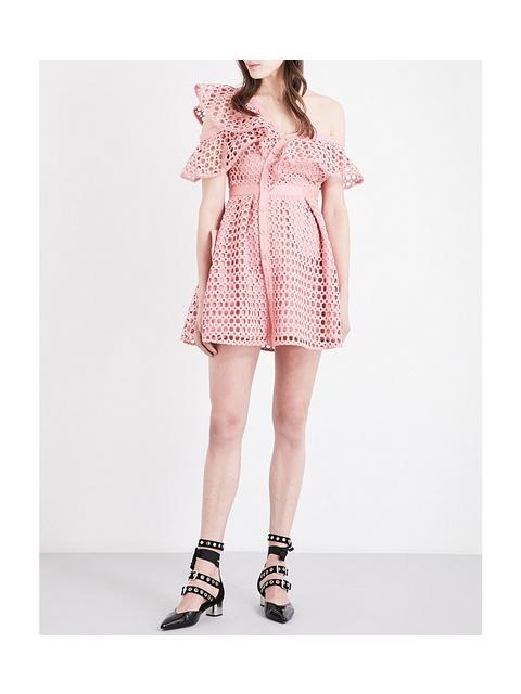 2a1dda670b9b5 Lace Frill Mini Dress | Endource