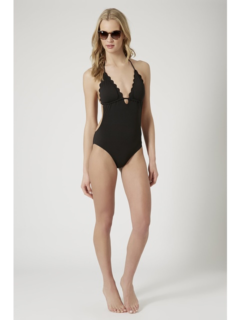 c5f2f7a8b99 Plunge Front Scallop Swimsuit | Endource