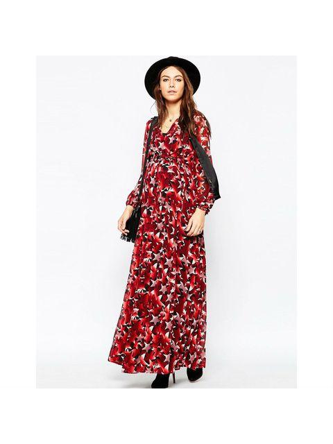 b781c8f3659 Maternity Maxi Dress In Star Print