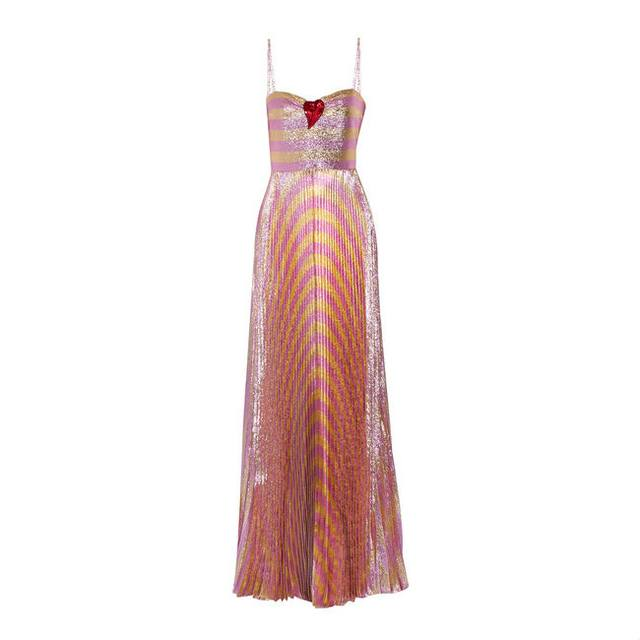 Embellished Lame Gown | Endource