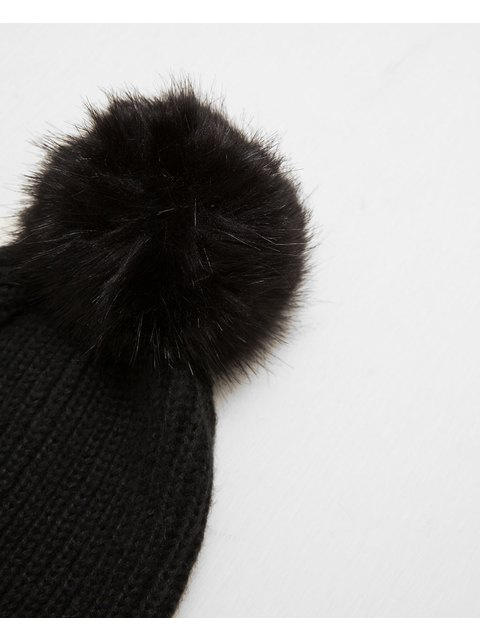 c0341ae96b7 Pom Pom Rib Knit Hat