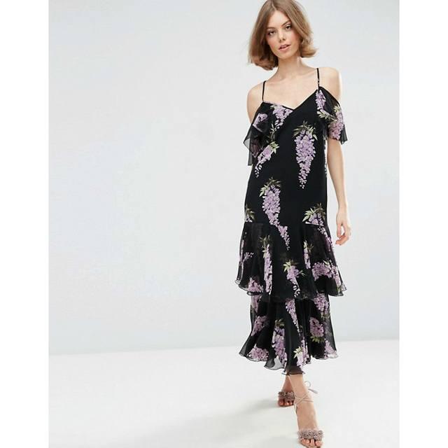 31a5dddcef6b3 Floral Frill Maxi Dress | Endource