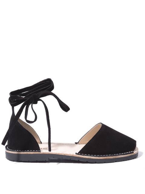 1cc2fa36be52 Solillas Sandals Womens Black Suede 2832700079 Ankle Tie. Solillas. Pantera  Sandals Endource