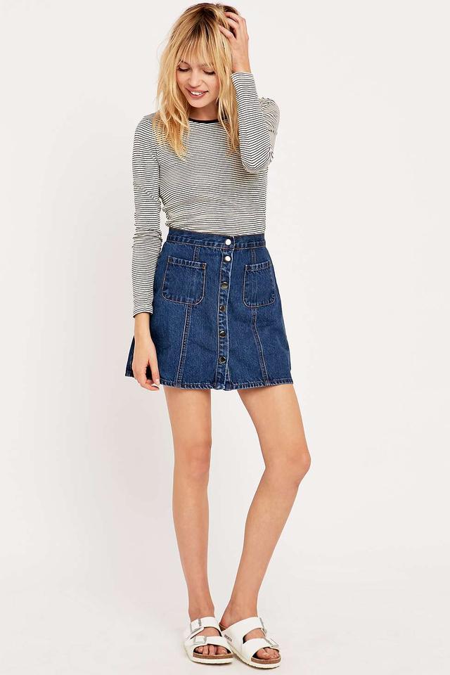 Jean A Line Skirt