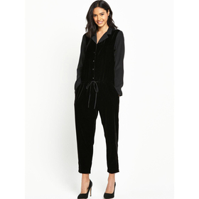 Dallas Velvet Jumpsuit by Little White Lies