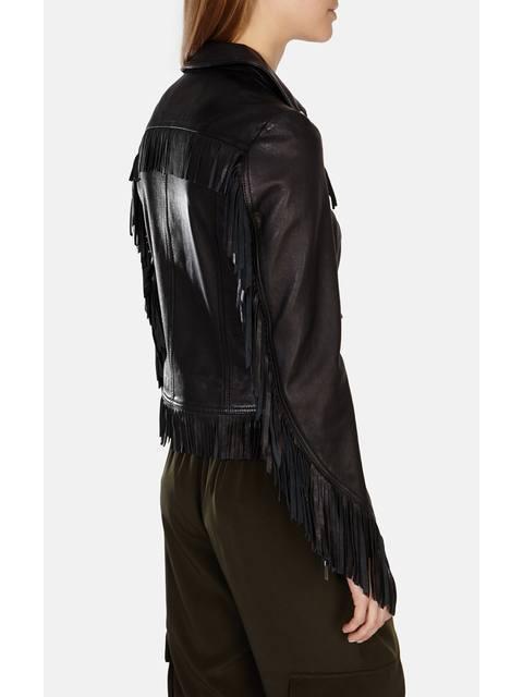 6f209fb298dc3 Fringed Leather Jacket
