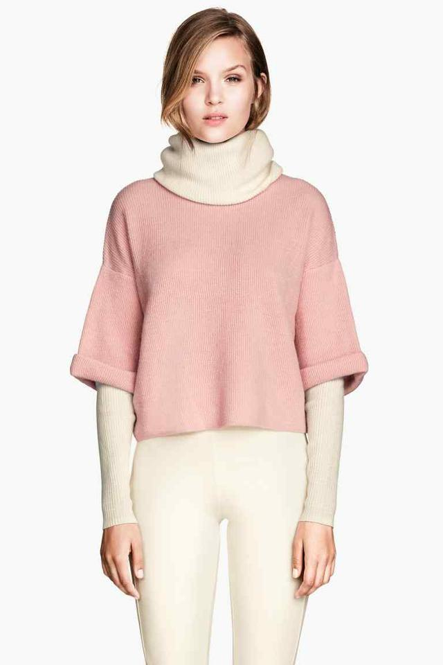 Knitted Polo-neck Jumper by