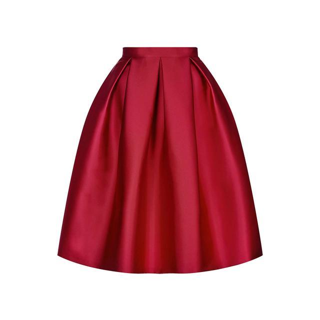 Satin Prom Midi Skirt | Endource