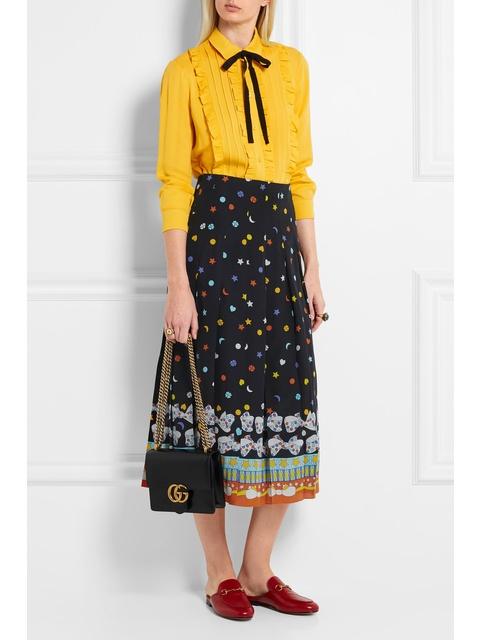 050ed102c2d1 Pleated Printed Skirt