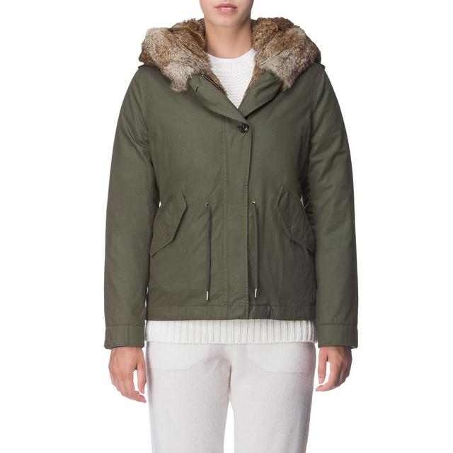 Woolrich Fur Lined Short Parka