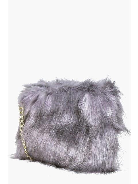 Mia Faux Fur Clutch  f9cc65a21158f