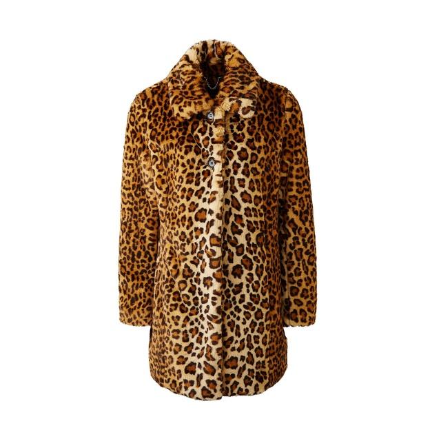 3fc823ea0ae1 Leopard Print Faux Fur Coat | Endource