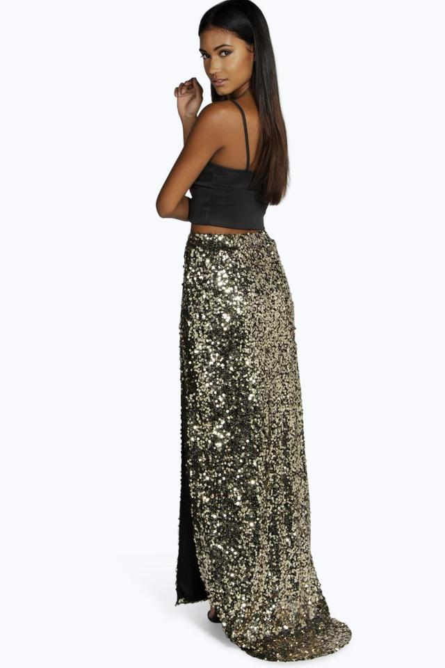 Naomi Split Sequin Maxi Skirt | Endource
