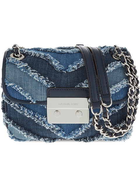deb0ffb13b83 Sloan Denim Chevron Shoulder Bag