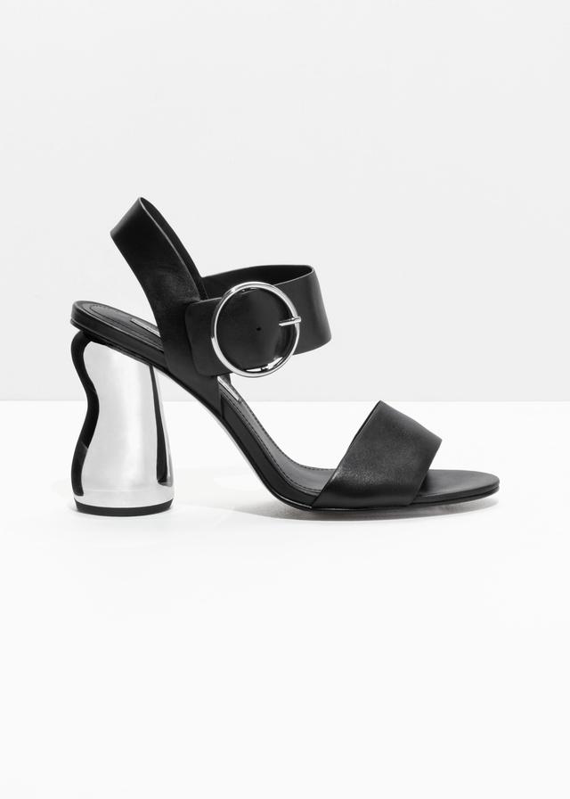 O-Ring Metallic Heeled Sandals - Black Bas Prix Pas Cher En Ligne Footlocker À Vendre Magasin De Vente Pour Pas Cher Acheter De Vente En Ligne Manchester Pas Cher En Ligne 0sHo3ypQ
