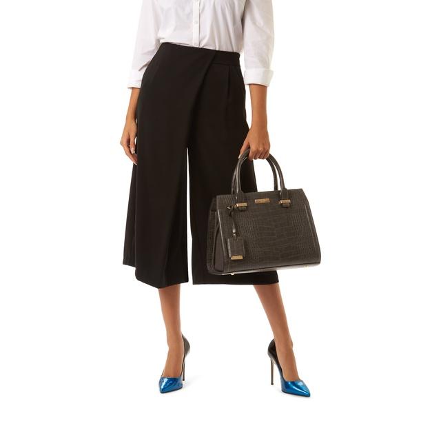 b0a49dbb6d78 Holly Croc Zip Bag Grey Tote Bag