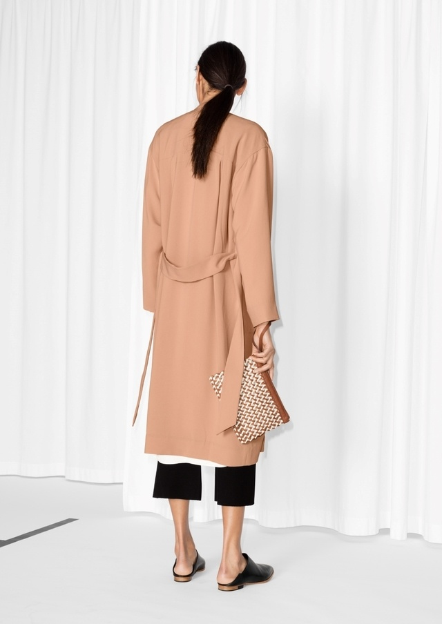 Belted trench coat endource for Boden jennie coat