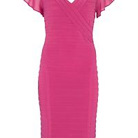 ba8cac6b1a8c0 Cerise Panelled Bandage Dress   Endource