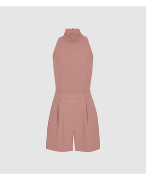 6a73c8a32e5d Lucille Open Back Playsuit by Reiss