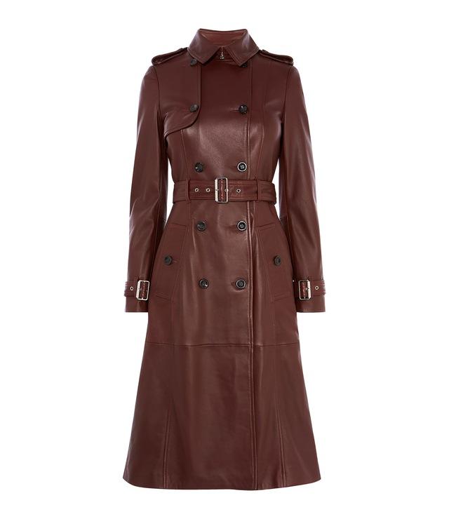 7c490cc133 Longline Leather Trench Coat   Endource