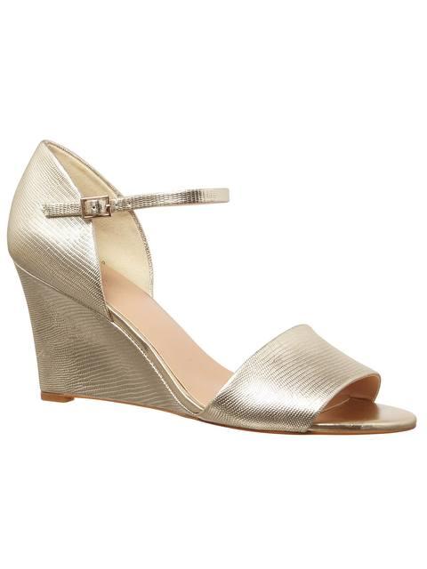 4c1651b3aadc Metallic Leather Wedge Shoes