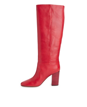 1c190bb3e45 High-Heel Leather Boots by Arket