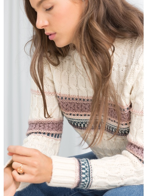 29983937912 Cropped Cable Sweater Sweaters