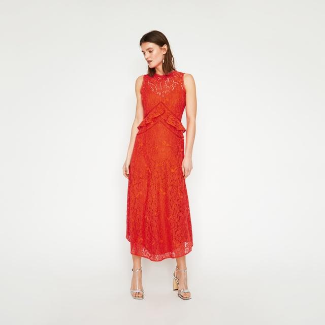 c20d26753dda Frill Lace Midi Dress