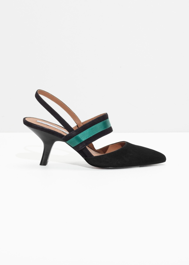 & OTHER STORIES Pointed Duo D-Ring Slingbacks 4gDCPRQ