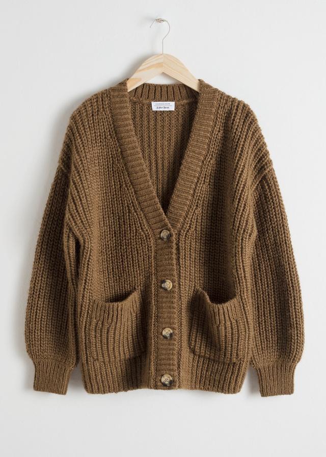 Oversized Rib Knit Cardigan | Endource