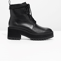 & OTHER STORIES Leather Platform Boots