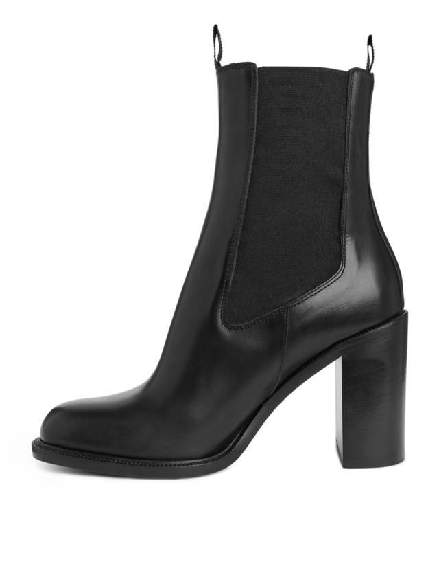 High-Heel Chelsea Boots  307b8f6e6