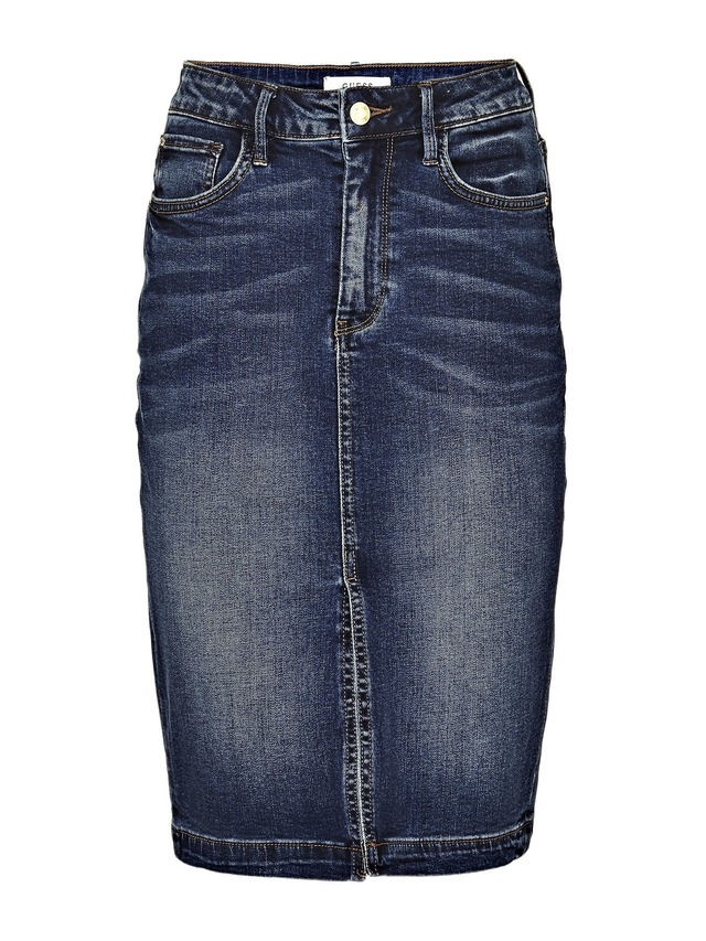 calf length denim skirt endource