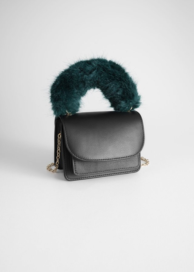 be11d7dc0766 Faux Fur Handle Mini Bag