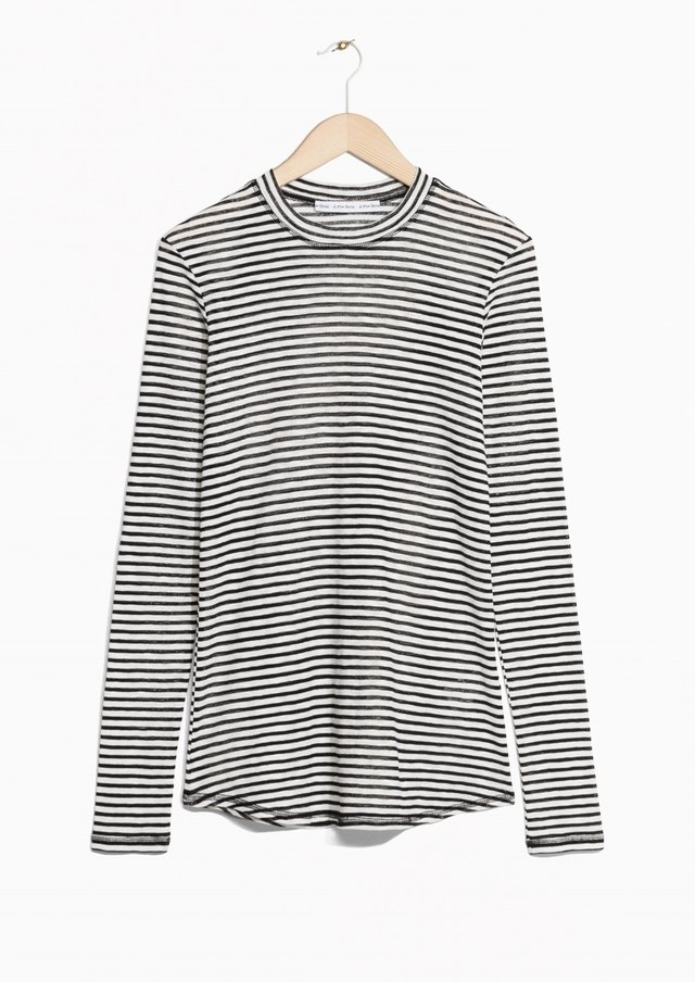 9b8bd837379aa Sheer Striped Top