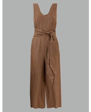 bb2d15fe3c Pure Linen Jumpsuit by Marks and Spencer